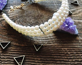 Pearl Choker Vintage Necklace