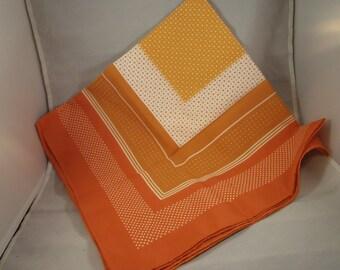 Vintage Gena's Pride Orange Colored Scarf Made in Japan