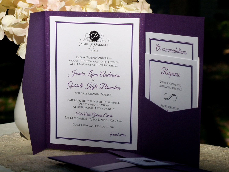 Custom Pocketfold Wedding Invitations Design Your Own