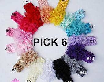Infant Headband, Newborn Headband, baby girl headband, baby headband, photo prop, crochet headbands for babies HC17
