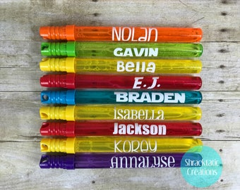Personalized Bubble Wands, Bubble Wand Party Favors, Bubble Wand Gifts, End of Year Class Gift, Birthday Party Bubble Wand Favors, Kids Gift