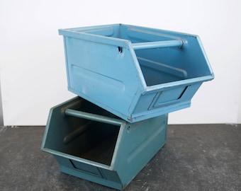 Industrial metal factory crate