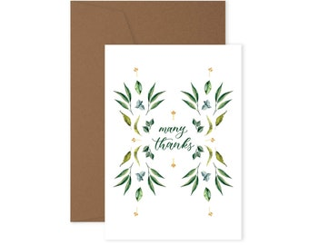 Many Thanks - Greeting Card