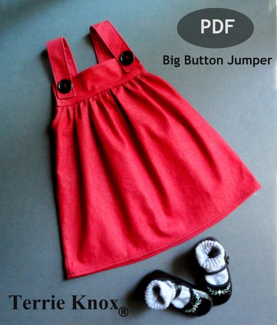 Pattern Sewing Children Dress Girl Girls Pinafore Kids Sewing