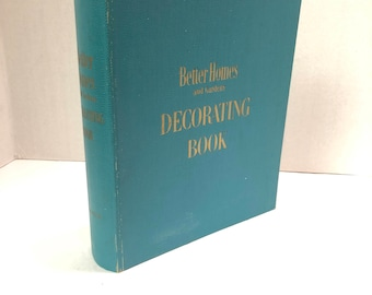 Better Homes and Gardens Decorating Book-1956 This Tab-Indexed, Spiral Bound Book of 50's Mid-Century Decorating