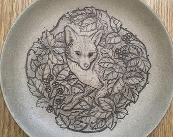 Vintage Poole Pottery Collectors Plate. Fox Design. Barbara Linley Adams