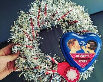 Hugs and Kisses Mini Wreath