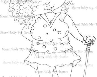 INSTANT DOWMLOAD Digital Digi Stamps Big Eye Big Head Dolls Digi New Fluffy Beautiful Besties Tm  img046 By Sherri Baldy