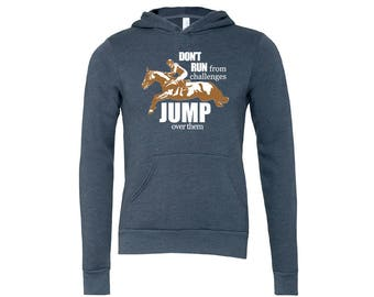 Jump Over Challenges Equestrian Hoodie