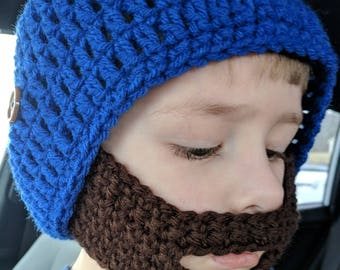Crochet beard hat
