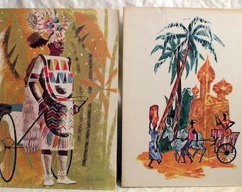 Free Shipping 1960s Jane Oliver, Pierre Belliveau Stemship Menus