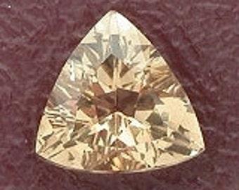 4mm triangle trilliant champagne topaz gemstone gem