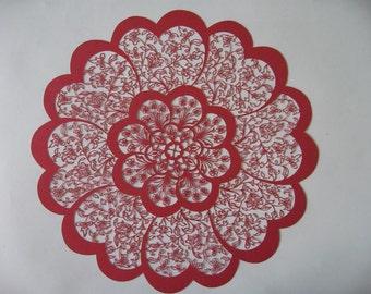 Handmade Flowers Paper Carving
