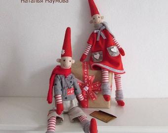 Scandinavian gnomes, amulets, textile dolls, rag dolls, handmade dolls, interior dolls