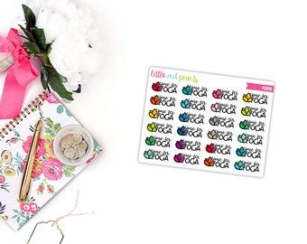QUARTER SHEET - Time for Yoga Planner Stickers for the Erin Condren Life Planner, Script Planner Sticker - [P0816]