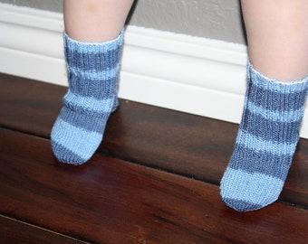 Knit Baby Socks Etsy