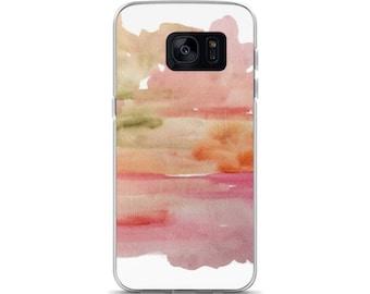 Watercolor phone case, Samsung Galaxy S7, S7 Edge case, Elegant Samsung Galaxy S8, S8+ case, Pink abstract phone cover, Pretty phone case
