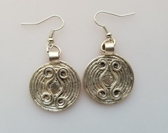 Ethiopian earrings, telsum earrings, amulet earrings, silver earrings, tribal earrings