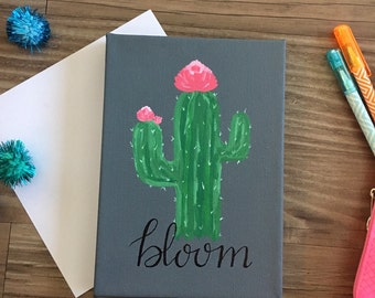 "Cactus Flower ""Bloom"" Canvas"