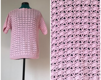 Pink Comfy Handmade Quilting Sweater