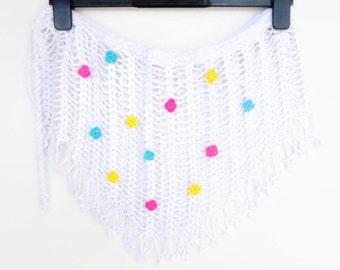 White Crochet Cover Up Beach Wrap Crochet Beach Cover Up Women Accessories Crochet Skirt Travel Gift Gift For Her For Mom For Best Friend