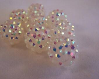FREE SHIPPING - 8 pcs Shamballa - Rhinestone Acrylic Berry Beads (#1925-3)