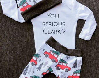 Christmas Vacation-christmas baby-take home outfit-coming home outfit- newborn outfit-fall baby-holiday baby-infant clothing-baby shower