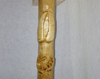"36"" Deer Trophy Walking Cane"