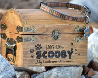 Pet Memory Box - Pet Keepsake Box - Memorial Box - In Memory - Sympathy Gift - Pet Memorial Pet Urn -Personalized Pet Urn - Pet Memory Chest