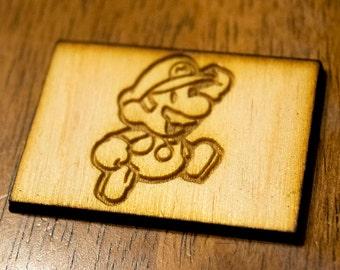 Mario Magnet (Wood) - Nintendo/Mario - Laser Cut and Engraved