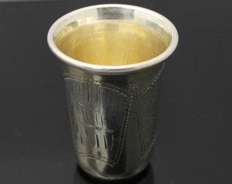 Russian Empire // KIEV Antique 1892-1907 Israel Eseevich Zakhoder // Solid Sterling Silver Kiddush Cup // Vodka Cup // RARE