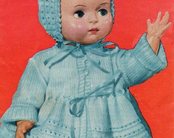 Vintage Dolls Knitting Pattern to fit 18 - 20 inch doll