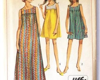 Vintage 1950s Womens Beach Dress/Muu Muu Dress Sewing Pattern Size 16 Bust 36 Simplicity 7364