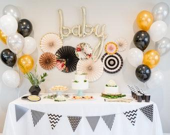 Gardenia Baby Shower Decoration Kit