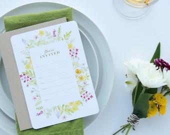 Wildflower Invitations