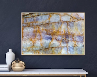 Mineral Photography - (Print # 058) Marbled Ahmethyst   - Fine Art Print - Two Paper Choices- Mineral Geode Agate Crystal Decor