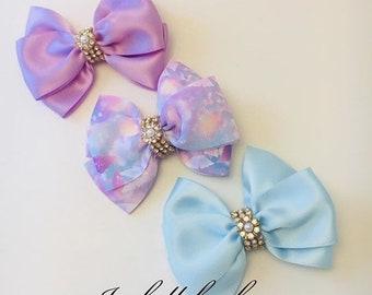 Lavender Hair clips Blue hair clips