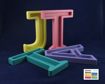"Recessed Wooden Letters Free Standing 20cm/8"" tall painted"