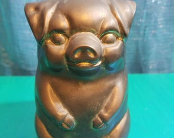 Brass Pig Piggy Bank