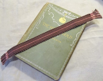Cotton Handwoven Bookmark. Brown and Pink. Traditional Weave. Great Gift Idea.
