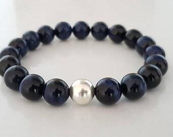 Man, Hawkeye bracelet mens gift stone