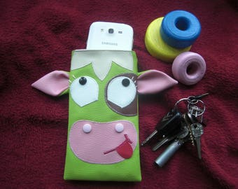 Cover/pouch/case for mobile phone or glasses leatherette