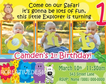 Sweet safari invite boy invitation 1st birthday party safari friends invite safari invite safari invitation jungle invite jungle invitation 1st birthday boy invite birthday party invitation stopboris Choice Image
