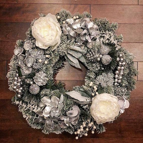 Winter Wreaths Part - 46: Winter Wreaths For Front Door Winter Wreath Holiday Decor