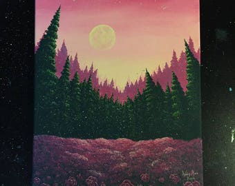 Clearing for Roses Original Canvas Painting