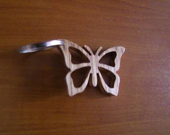 wooden keychain butterfly