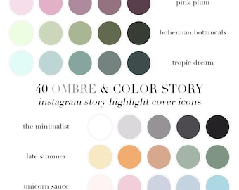 Instagram Story Highlights Icons - Ombre & Color Story