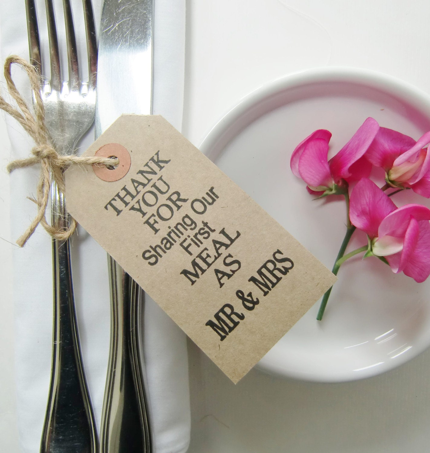 200-Our First Meal-Rustic Wedding Favors-Wedding Table