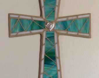 Mosaic Wall Cross, Unique Wall Cross, Religious Wall Cross, Religious Mosaic Cross, Mosaic Wall Art,