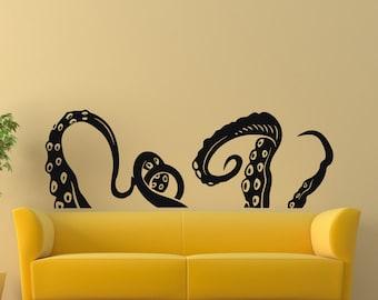 Vinyl Wall Decals Octopus Sprut Poulpe Tentacles Dorm Office Bedroom Decal Sticker Home Decor Art Mural Z670
